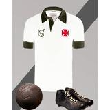 Camisa Retrô - Vasco - Vg Branca Polo - Lançamento b96ddd1393ef5