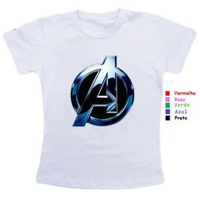 Kit Camisetas Personalizadas Vingadores - Camisetas Manga Curta para ... a35135150c496