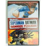 Dvd Duplo - Dc Universe Superman Batman Inimigos Públicos