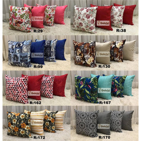 6 Almofadas Decorativas Com Ziper Em Embalagem Envio No Dia