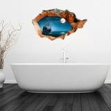 Decoracion Hogar Pegatina Pared 3d Vela Baño Extraible