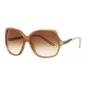 89d98db163537 Outlet   Óculos De Sol Nina Ricci  3227 Acetato Lente Marrom