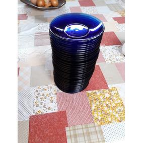 Pires Café Duralex Azul Lote 6pç Bl Antiguidades