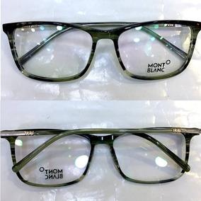Armação Oculos Grau Mont Blanc Mb55 Grafite Black Classic - Óculos ... b15bfc6bb0