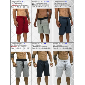 Kit 5 Bermudas Moletom Masculina Original Mxd Slim Shortes