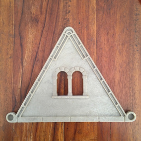 Playmobil Medieval Lote 4 Triângulos De Telhado Para Casa