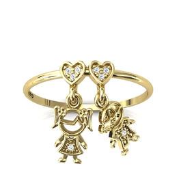 5301d8777f023 Anel Ouro 18k - Anel Com Pingentes de Ouro no Mercado Livre Brasil