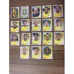 18 Figurinhas Copa Mundo 2002 - Kit Dos Jogadores Do Brasil&