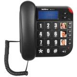 Telefone Amplificado Deficiente Auditivo Idoso Viva Voz Bina