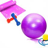Set De Pilates Pelota+colchoneta+inflador+mancuernas 1 2 Kg cf06a6152e53