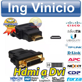 Adaptador De Video Hdmi Macho A Dvi Hembra 24+5 Dual Link