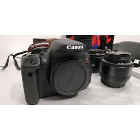 Canon Rebel T5i Completa + 3 Lentes + Grip + Slider