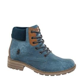 Botas Polo Mujer - Zapatos Azul en Mercado Libre México 84a4a9138a95c