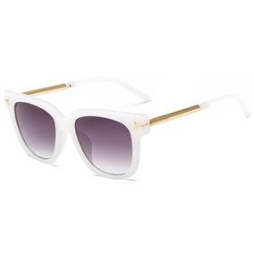 2aa28024c Oculos De Sol Quadrado Metal Feminino Branco Frete Gratis - Óculos ...