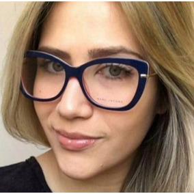 Armação Óculos Marc Jacobs Azul - Óculos no Mercado Livre Brasil 95be43b97d