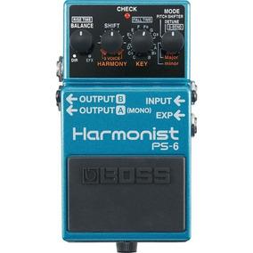 Pedal Harmonist Boss Ps6 Para Guitarra 4 Efeitos De Pitch