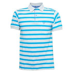 1f04e84bef Camisa Polo Enrico Rossi Listrada Cinza E Azul