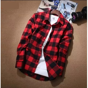 2ab0678f1 Camisa Xadrez Masculina Vermelha - Camisa Manga Longa Masculino em ...