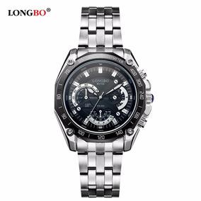 Relógio Analógico Masculino Esportivo Longbo Aço Inoxidável.