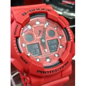7c1de4b514e Relogio Casio G Shock Ga 100 Vermelho - Relógio Casio Masculino no ...