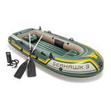 Barco Bote Inflável Intex Seahawk 3 - Pesca - 300kg