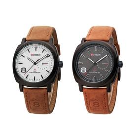 Reloj Curren 8139 Correa De Cuero Casual Para Hombre