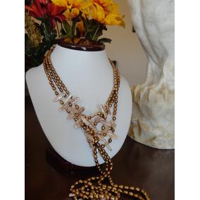 5c31f3d2ccaa Collar Exclusivo Perlas Genuinas Cultivadas Con Madre Perla ...