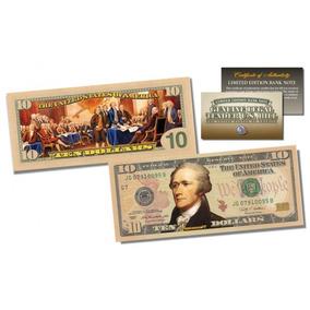 $ 10 Dólares / Declaração Independência / Ed. Colecionador