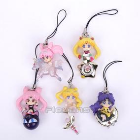 Conjunto 5 Pingentes Sailor Moon Na Caixa - Novo!