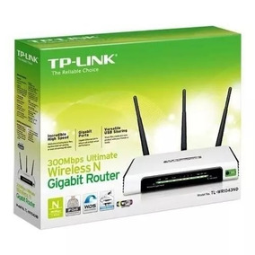 Roteador Tp-link Wireless 3 Antenas Usb Gigabit Tl-wr1043nd