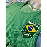 Camiseta Verde Nike Time Brasil Dri Fit Rio2016 (feminina) 561fdc700dac9
