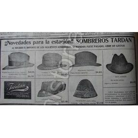 Publicidad Antigua Sombreros Tardan 1912 Dib. Carlos Neve c18a24c6484