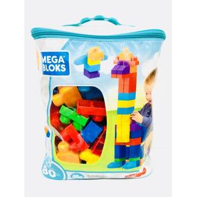 Mega Bloks Bloques De Construccion 80 Pz Azul Fisher Price