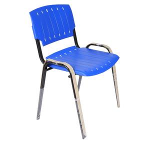 Sillas Plasticas Azules Apilables Patas Metalicas Rolic