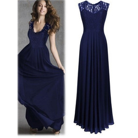 2185fb468 Vestido Azul Encaje - Vestidos Mujer en Mercado Libre Perú