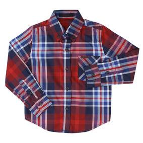 Camisa Infantil Masculina Tassa Boys Manga Longa Xadrez Verm