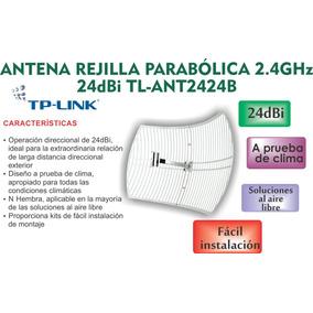 Antena Tp-link Tipo Rejilla Para Exteriores De 24dbi Nueva