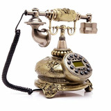Edge To Corded Telephones Antique European Pastoral Retro Te