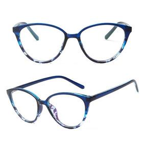Armação Óculos Grau Acetato Gatinho + Caixinha Brinde A30. 3 cores. R  44 69 dc0b768126