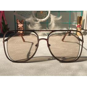 Oculo Sol Gatinha Estilo Dourado - Óculos no Mercado Livre Brasil 183a9eac30