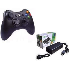 Kit Joystick + Carregador Xbox Controle Sem Fio Usb Pcs Not