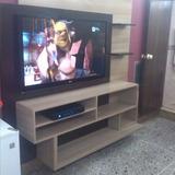 Mueble Aereo Moderno Con Repisas Mesa Tv