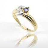 0df3becc2a244 Anel Prata 925 Pedra Natural Tanzanita Folheado Ouro 18k