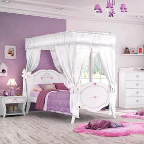 Cama Infantil Princesa Encantada Clean Com Dossel - Pura Mag