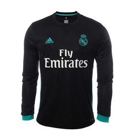 89f0c010c1b8b Camiseta Real Madrid Manga Larga Suplente 2018 - Camisetas en ...