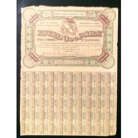 Ação Apólice Documento Antigo Do Pará De 1913 E 50 Cupons