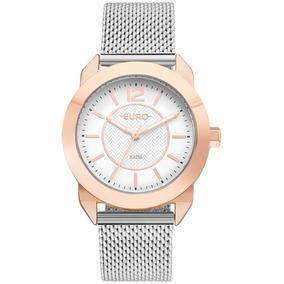84821c4e47f Relogio Feminino Prata Euro - Joias e Relógios no Mercado Livre Brasil