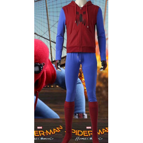 Spiderman Homem Aranha Caseiro De Volta Cosplay Fantasia.