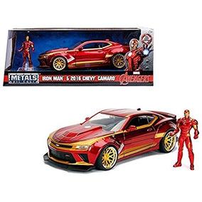 Carro Chevrolet Camaro 2016 Com Figura Iron Man Avengers1:24