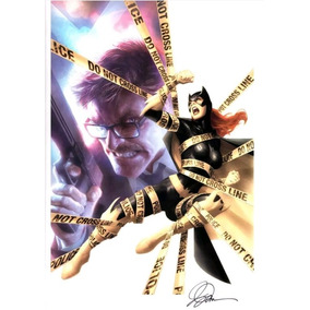 Poster Sideshow Dc Batgirl Vs Gordon Autografado Alex Garner